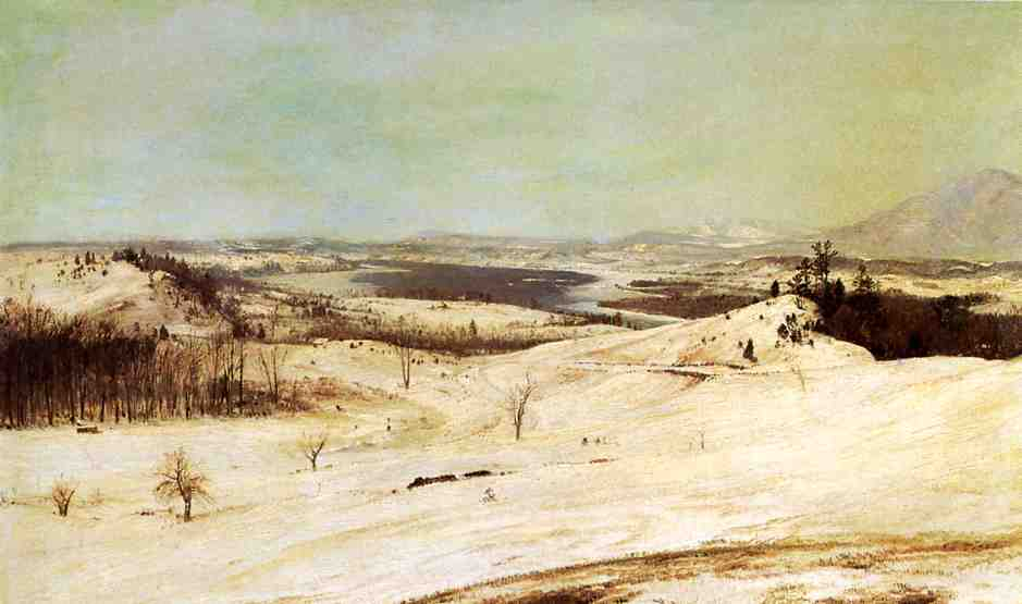 View from Olana in the Snow 1870-1873 | Frederic Edwin Church | Oil Painting