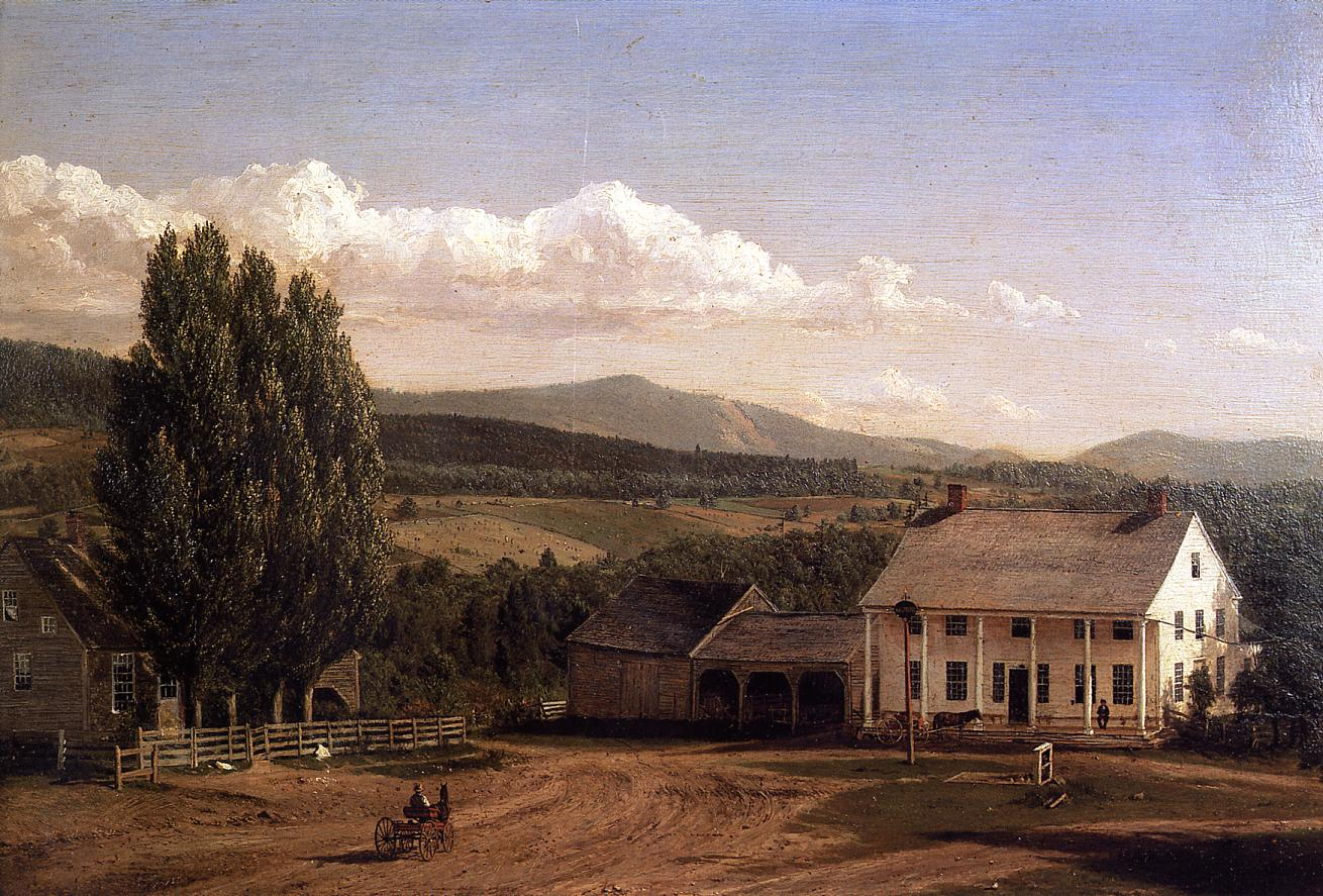 View in Pittsford Vt 1848 | Frederic Edwin Church | Oil Painting