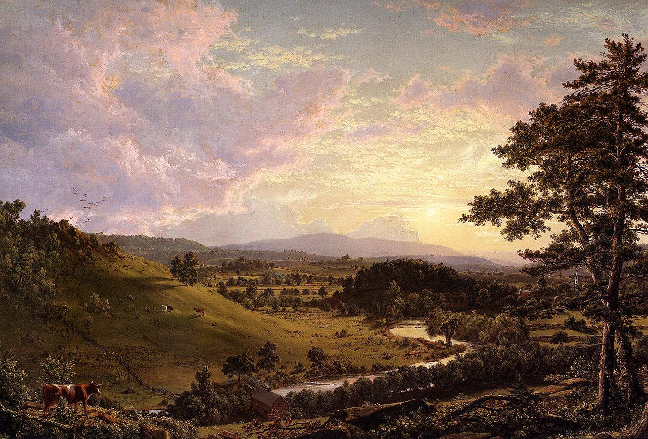 View near Stockbridge Mass 1847 | Frederic Edwin Church | Oil Painting