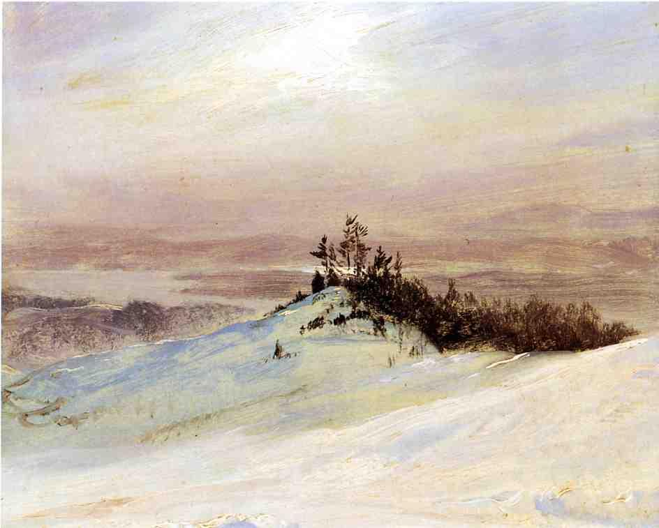 Winter on the Hudson River Near Catskill New York 1868 | Frederic Edwin Church | Oil Painting