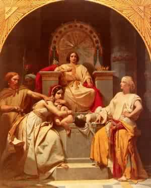 The Judgement Of Solomon | Frederic Henri Schopin | Oil Painting