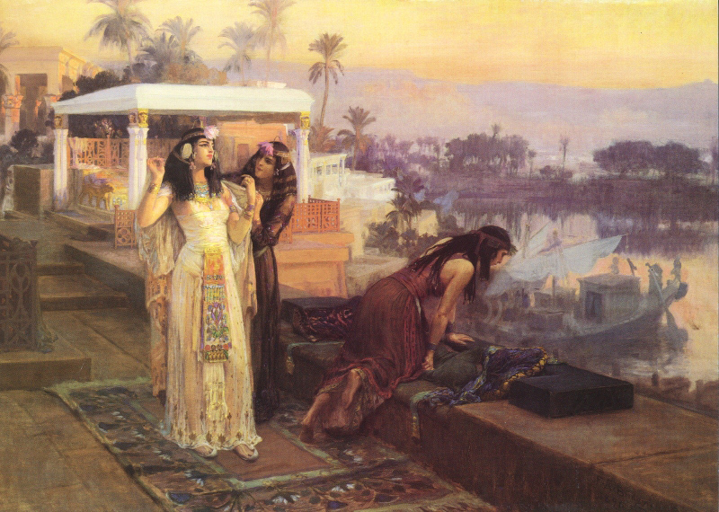 1896 Cleopatra on the terraces of Philae | Frederick Arthur Bridgman | Oil Painting