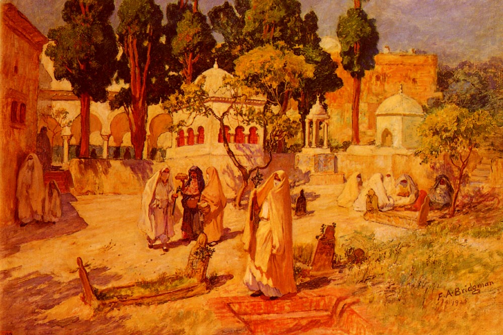 Arab Women at the Town Wall | Frederick Arthur Bridgman | Oil Painting