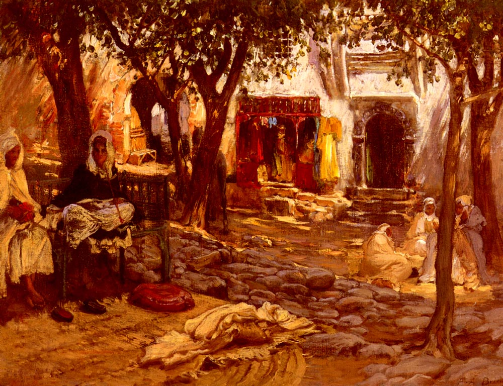 An Eastern Courtyard | Frederick Arthur Bridgman | Oil Painting
