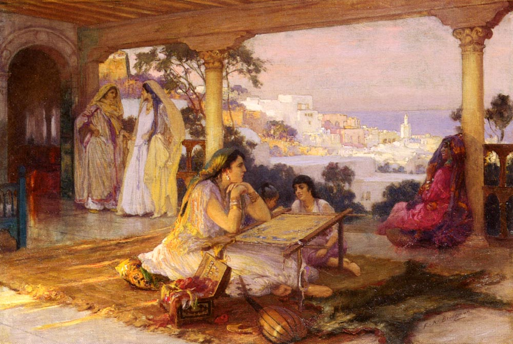 An Eastern Veranda | Frederick Arthur Bridgman | Oil Painting