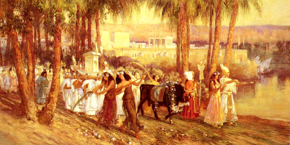An Egyptian Procession | Frederick Arthur Bridgman | Oil Painting