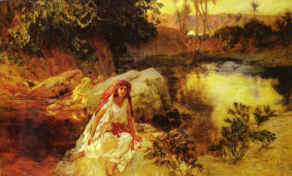 AT THE OASIS | Frederick Arthur Bridgman | Oil Painting