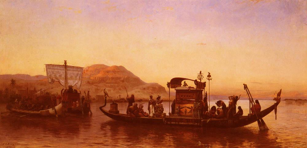Funerailles D Une Momie   Frederick Arthur Bridgman   Oil Painting