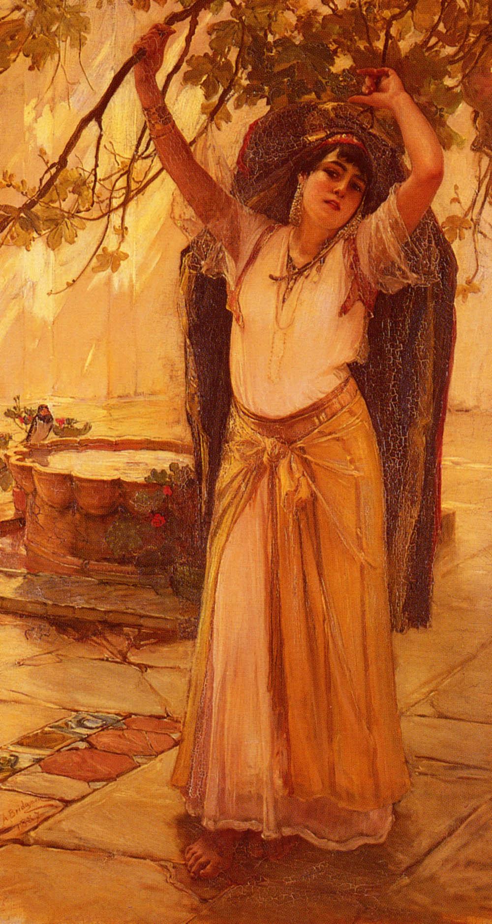 Spanish Lady   Frederick Arthur Bridgman   Oil Painting