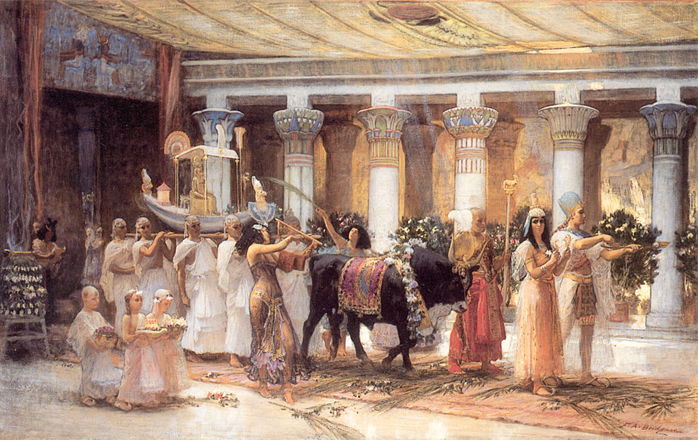 The Procession of the Sacred Bull Anubis | Frederick Arthur Bridgman | Oil Painting