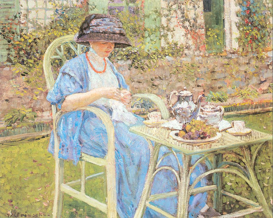 Breakfast In The Garden 1911 | Frederick Carl Frieseke | Oil Painting