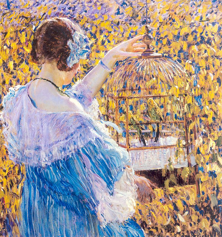 The Birdcage 1910 | Frederick Carl Frieseke | Oil Painting