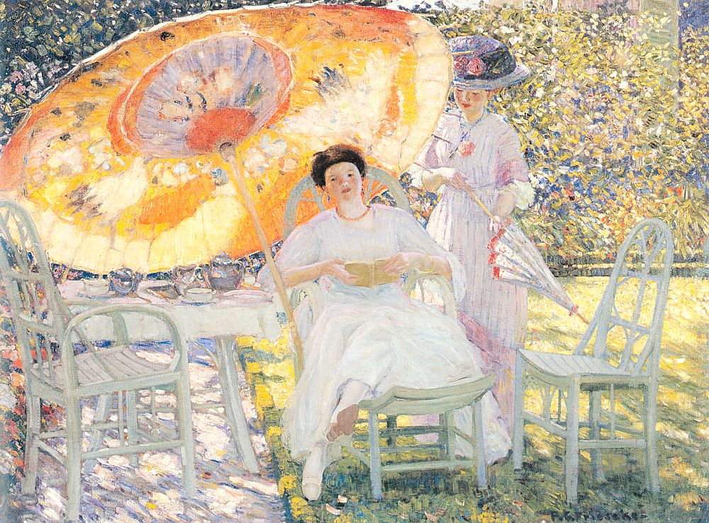 The Garden Parasol 1910 | Frederick Carl Frieseke | Oil Painting