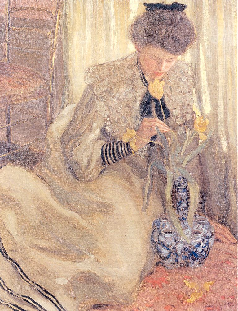 The Yellow Tulip 1902 | Frederick Carl Frieseke | Oil Painting