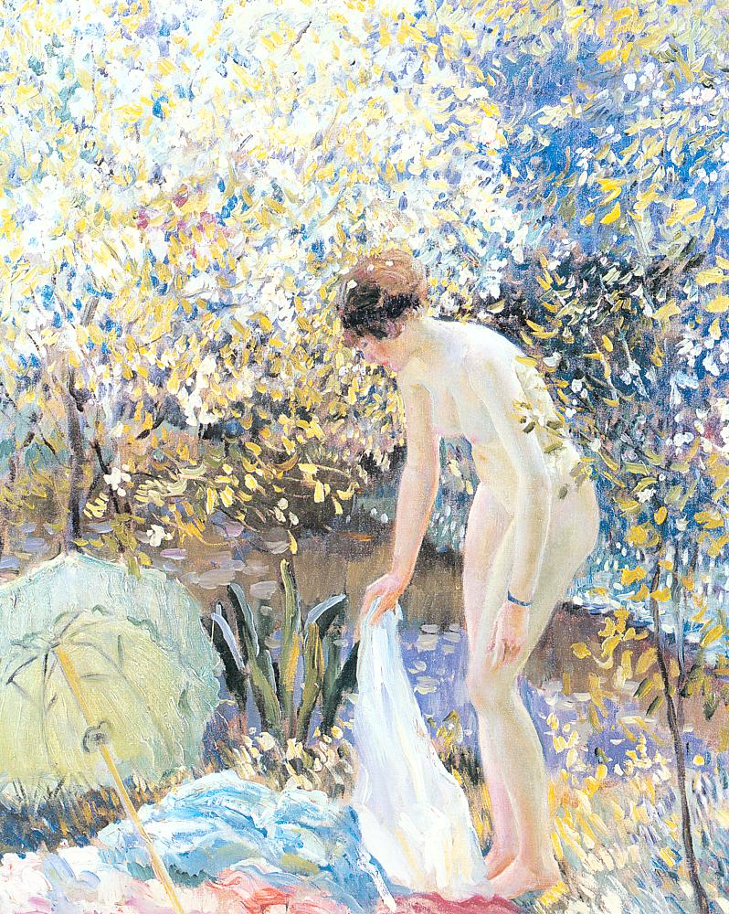Cherry Blossoms 1913 | Frederick Carl Frieseke | Oil Painting