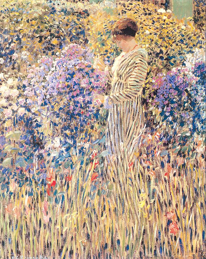 Lady In A Garden 1912 | Frederick Carl Frieseke | Oil Painting