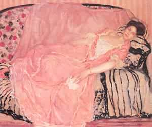 Portrait Of Madame Gely 1 (On The Couch) 1907 | Frederick Carl Frieseke | Oil Painting
