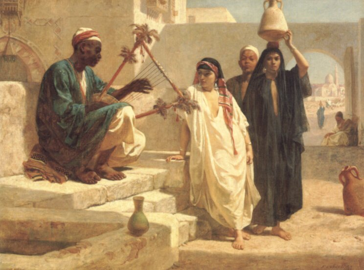 The Song of the Nubian Slave | Frederick Goodall | Oil Painting