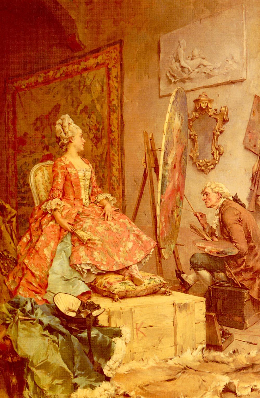 Sitting For Her Portrait | Frederick Hendrik Kaemmerer | Oil Painting