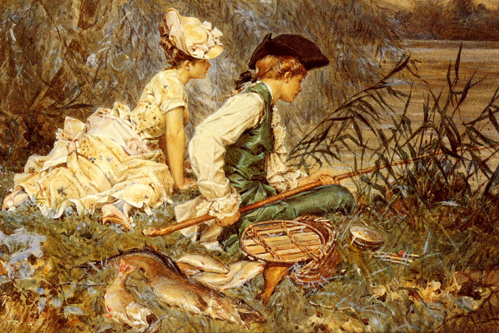 An Afternoon Of Fishing | Frederick Hendrik Kaemmerer | Oil Painting