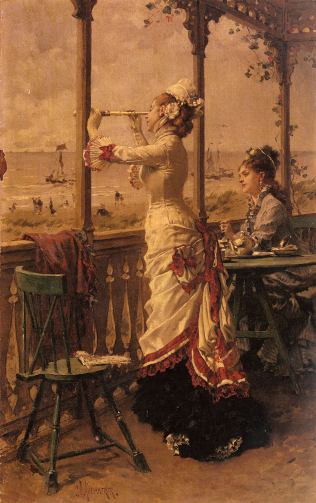 On The Lookout | Frederick Hendrik Kaemmerer | Oil Painting