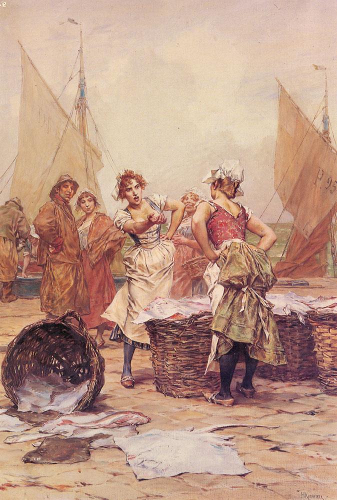 The Fishwives | Frederick Hendrik Kaemmerer | Oil Painting