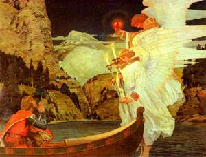 The Knight of the Holy Grail | Frederick Judd Waugh | Oil Painting