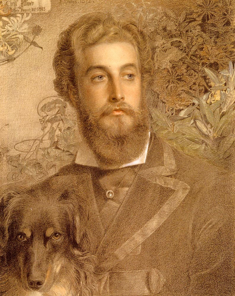 Portrait Of Cyril Flower | Frederick Sandys | Oil Painting