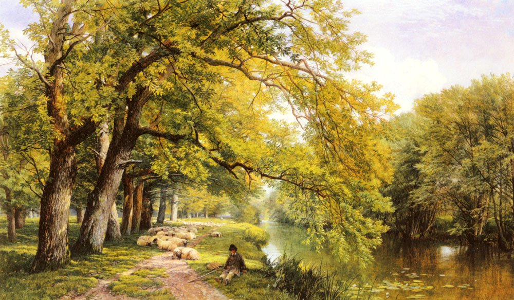 At Ockham Surrey In Summer | Frederick William Hulme | Oil Painting
