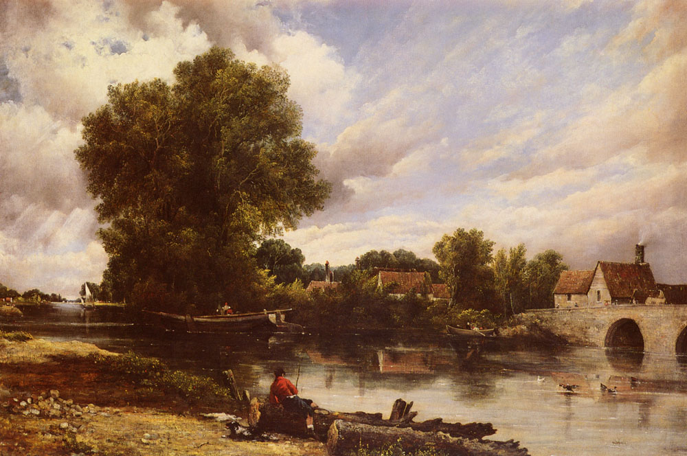 Along the River | Frederick William Watts | Oil Painting