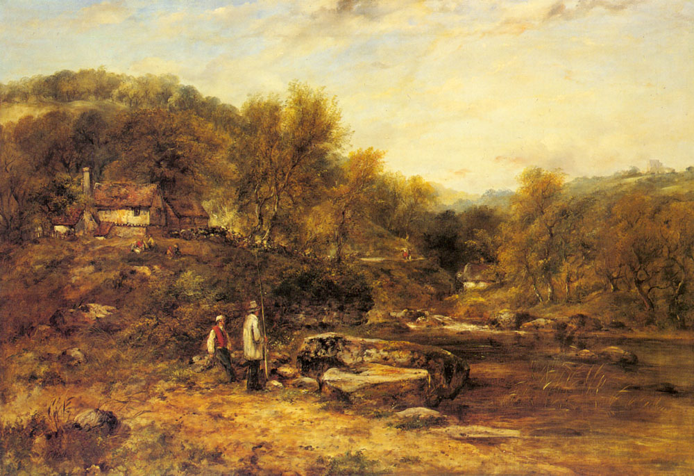 Anglers By a Stream | Frederick William Watts | Oil Painting
