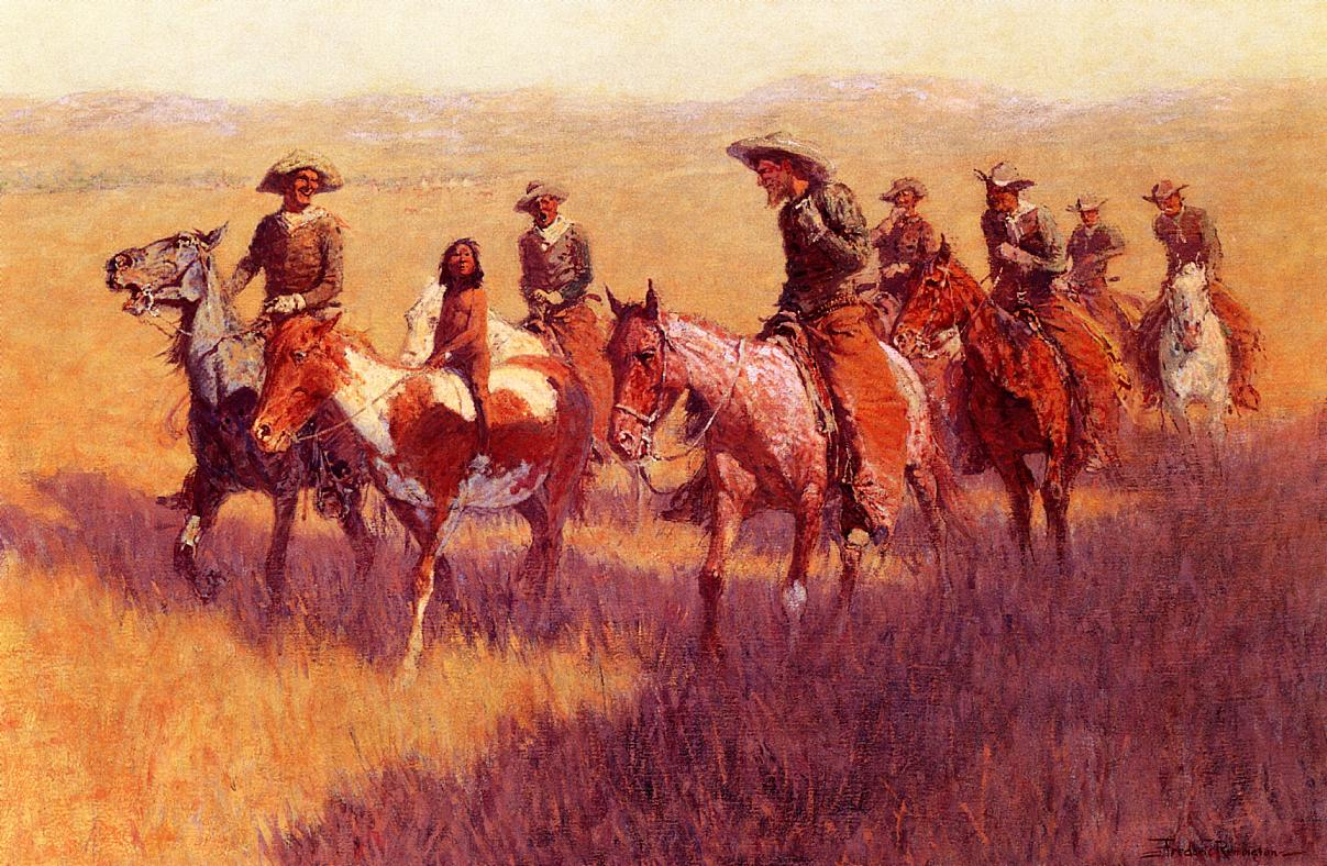 An Assault on His Dignity 1906 | Frederic Remington | Oil Painting