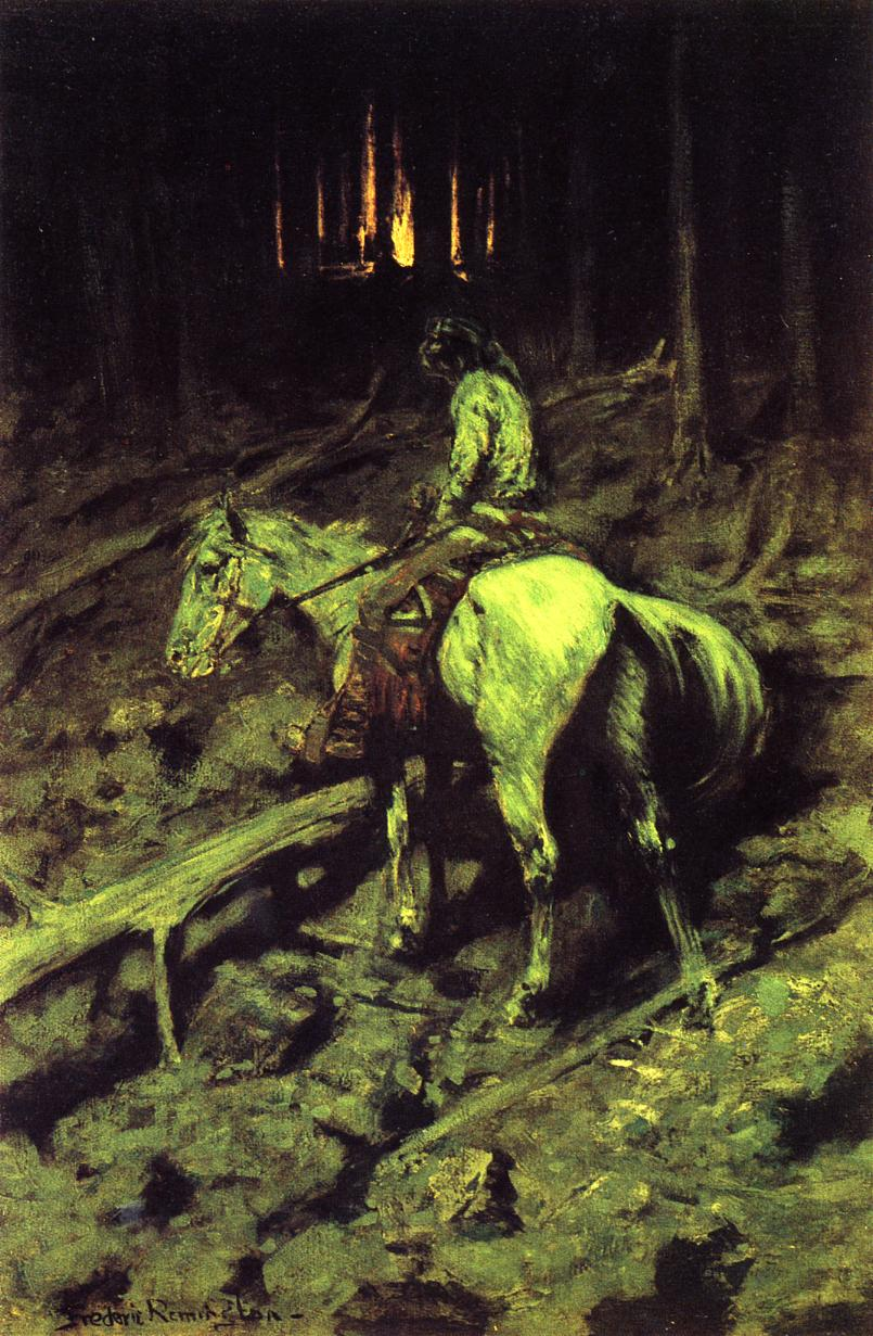 Apache Fire Signal 1908 | Frederic Remington | Oil Painting