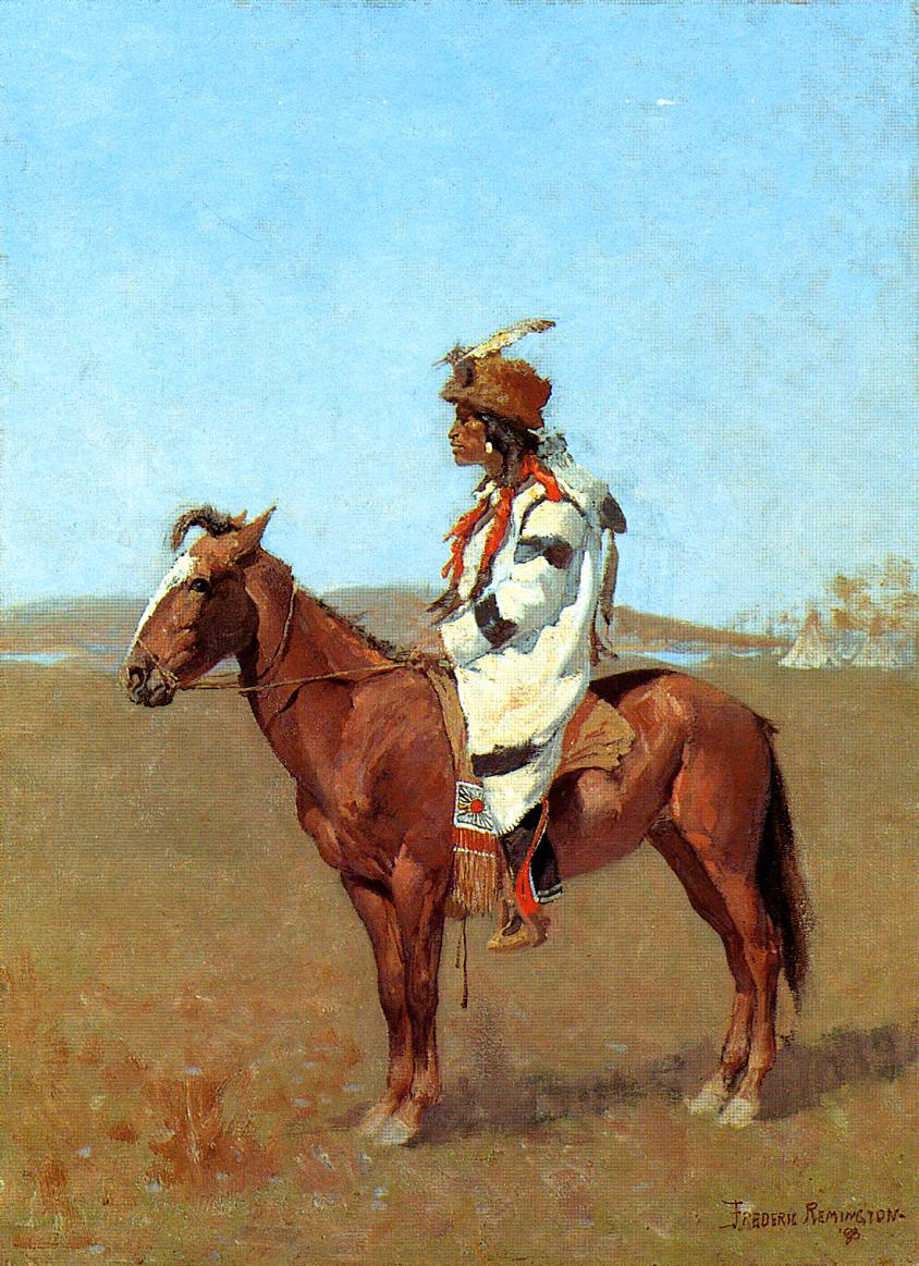 A Blackfoot Chief 1888 | Frederic Remington | Oil Painting