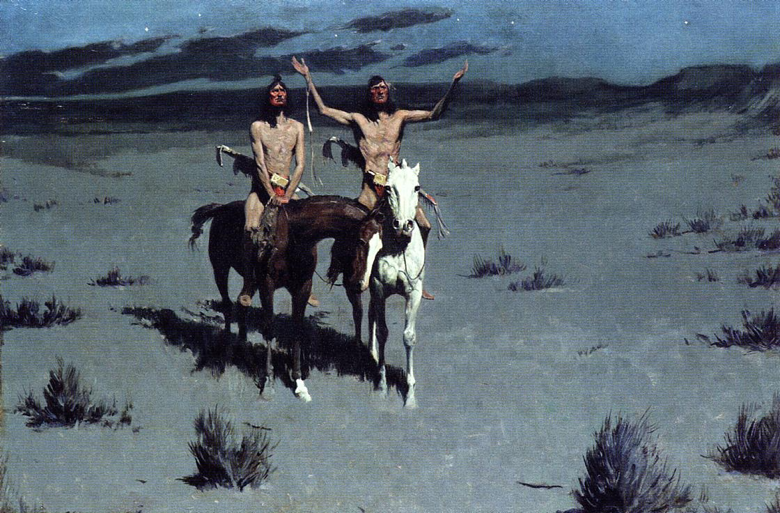 Pretty Mother of the Night | Frederic Remington | Oil Painting