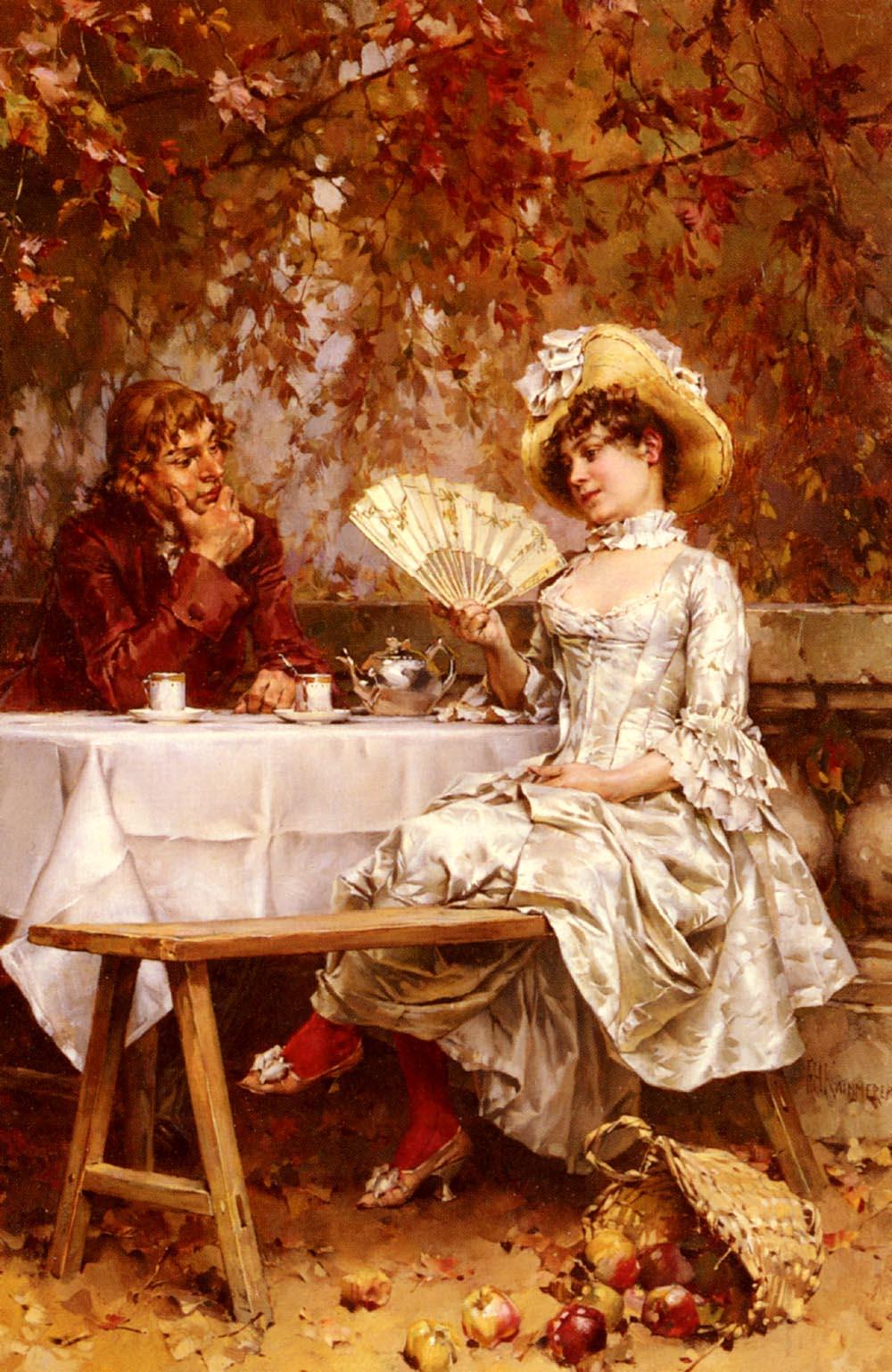 Tea In The Garden Autumn