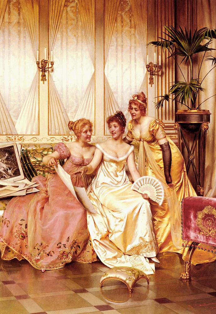 Les Trois Connaisseuses | Frederic Soulacroix | Oil Painting