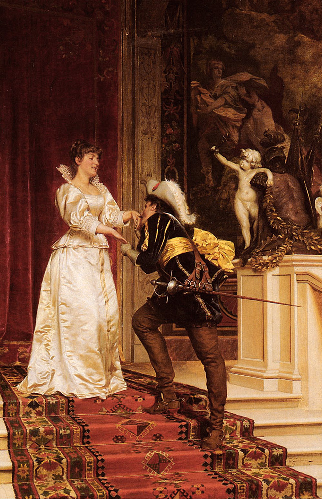 The Cavaliers Kiss | Frederic Soulacroix | Oil Painting
