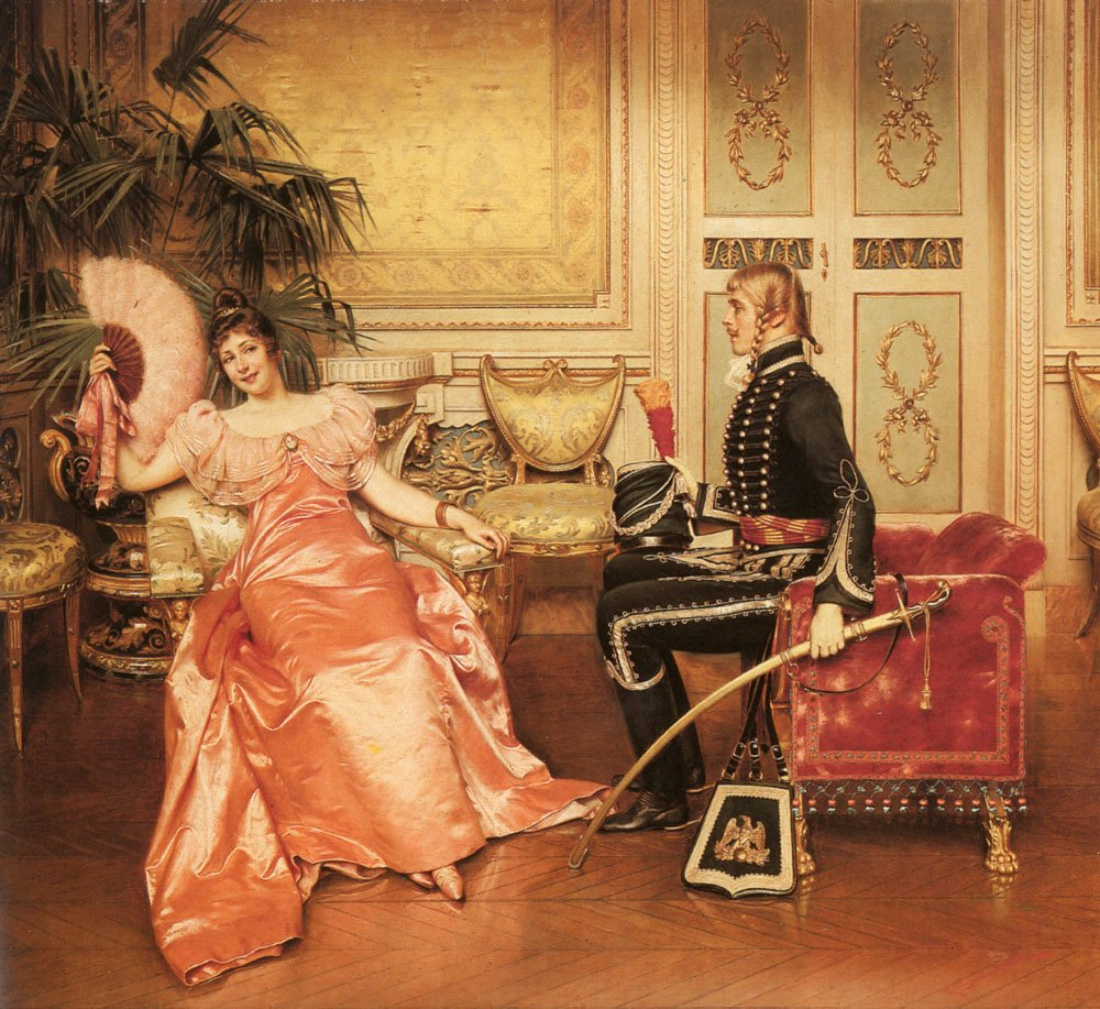 Flirtation | Frederic Soulacroix | Oil Painting