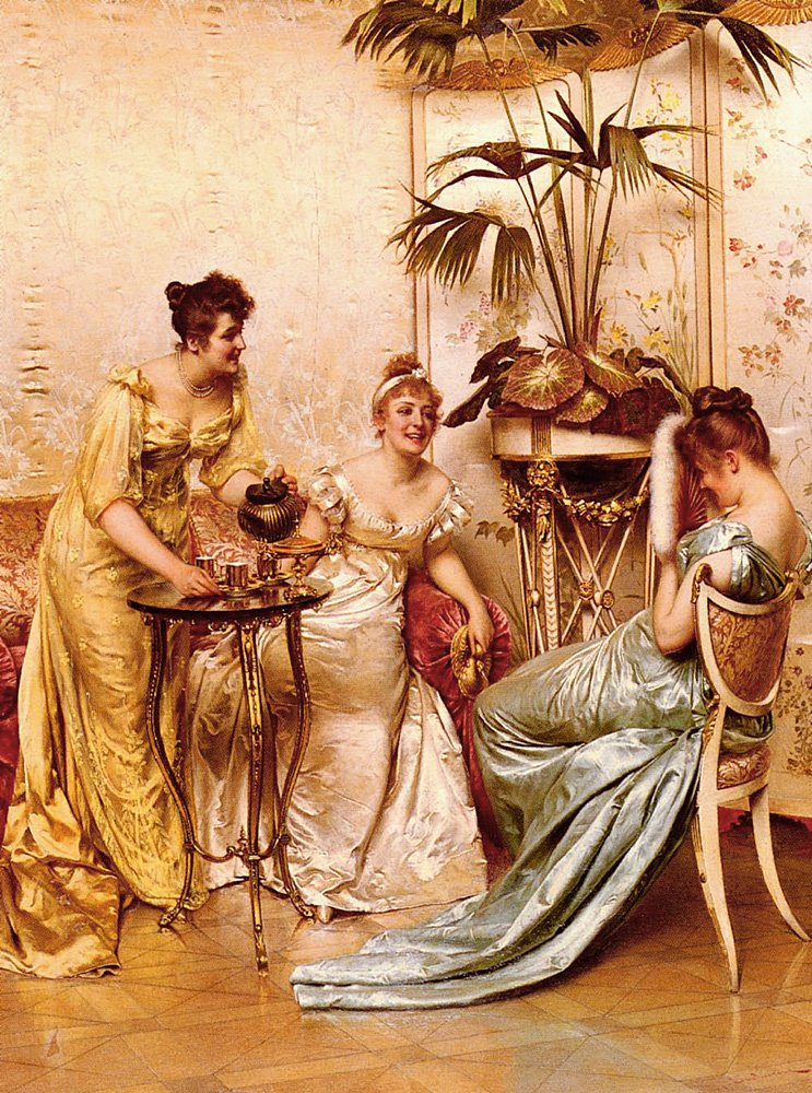 The Tea Party | Frederic Soulacroix | Oil Painting