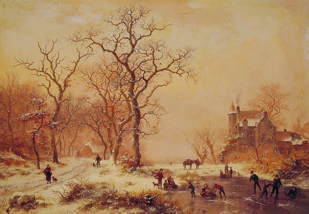 Ice Skating | Frederik Marianus Kruseman | Oil Painting