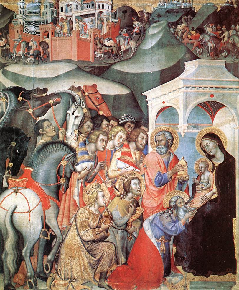 Adoration of the Magi 1380s | Fredi Di Bartolo | Oil Painting
