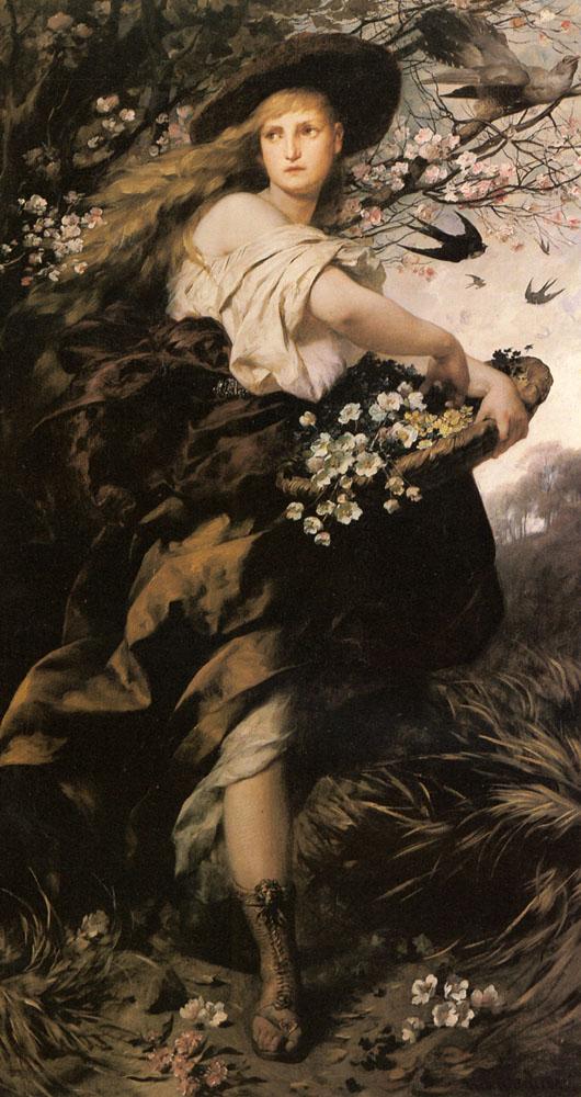 Flora | Fredinand Keller | Oil Painting