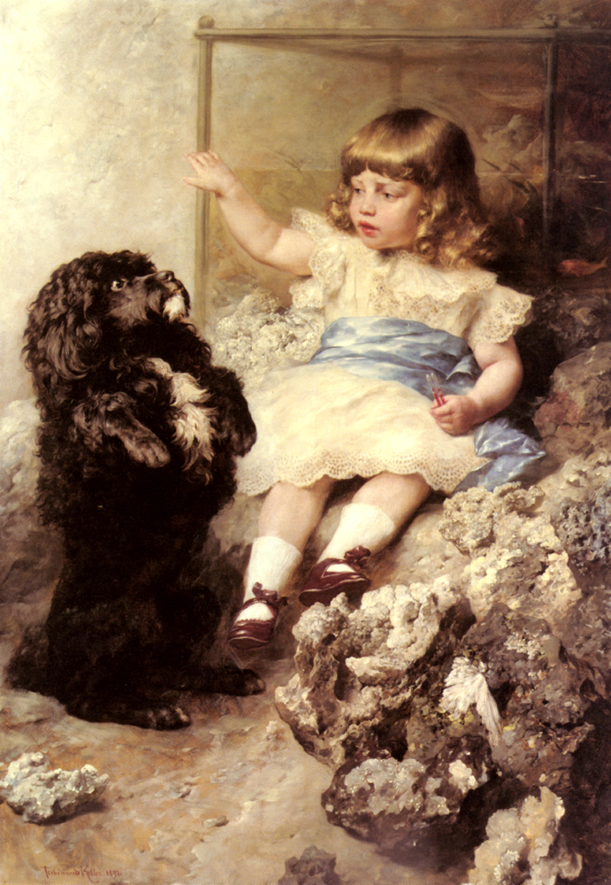 Give Me Your Paw | Fredinand Keller | Oil Painting