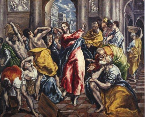 The Purification of the Temple 1600   EI Greco   Oil Painting