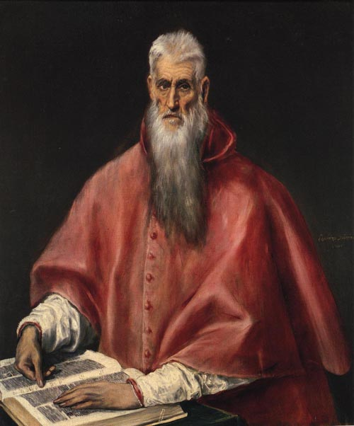 St Jerome 1590-1600   El Greco   Oil Painting