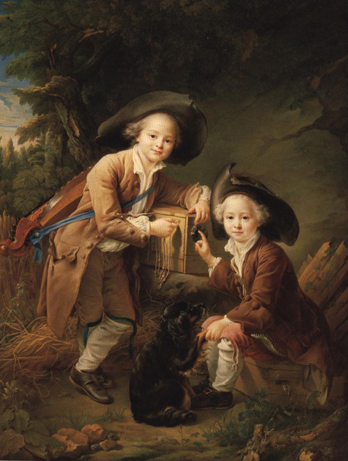 The Comte and Chevalier De Choiseul as Savoyards 1758 | Francois Hubert Drouais | Oil Painting
