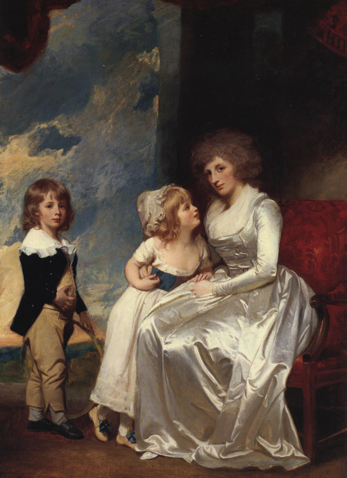 The Countess of Warwick and Her Child 1787-1789 | George Romney | Oil Painting