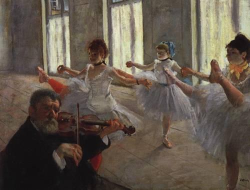 The Rehearsal 1878-1879 | Edgar Degas | Oil Painting