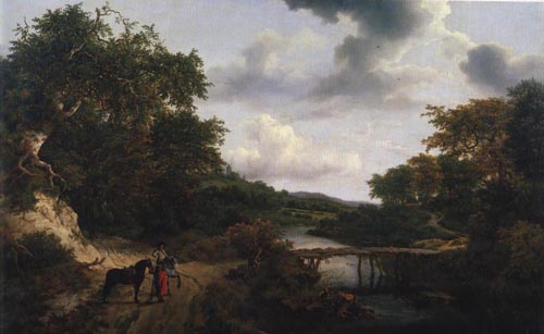 Landscape with a Footbridge | Jacob Van Ruisdael | Oil Painting
